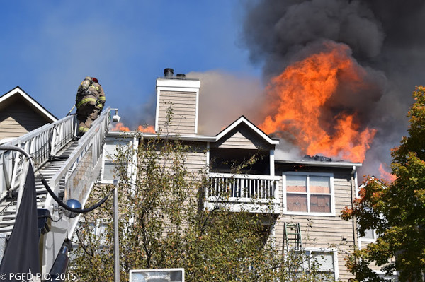 heavy fire from apartment building
