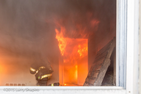instructor sets fire for training