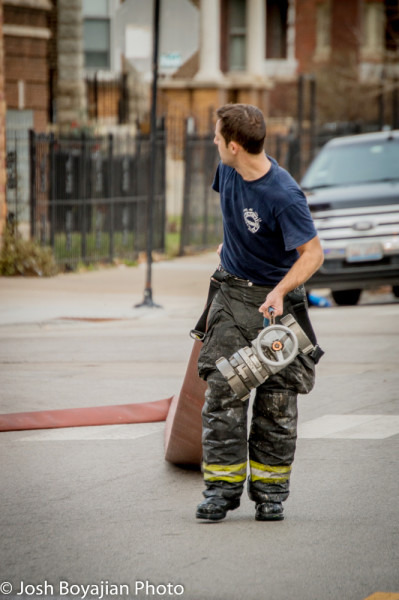 fireman after fighting a fire