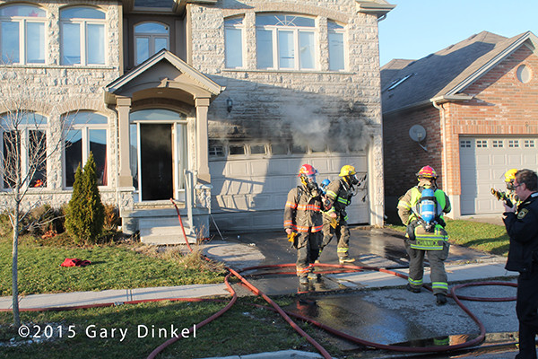 garage fire in Kitchener Ontario Canada