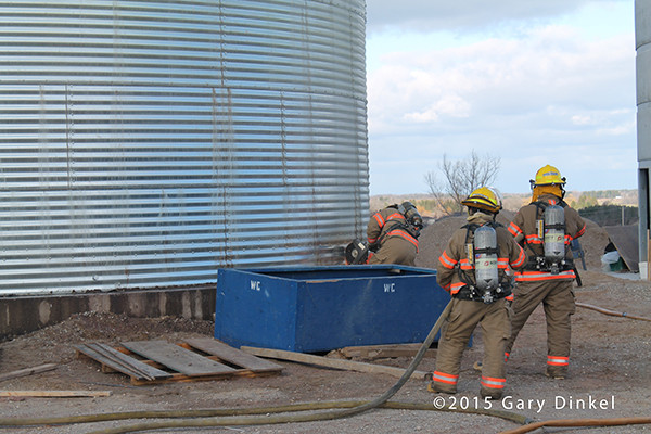 grain bin fire in Canada