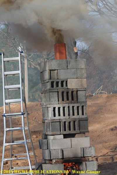 Chimney prop for training firefighters