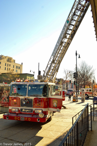 DCFD aerial ladder truck