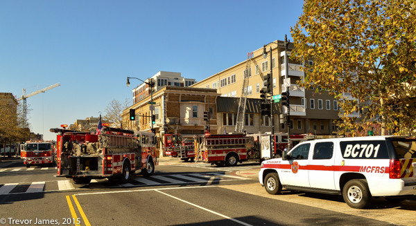 DCFD fire trucks at scene