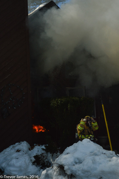 dense smoke from house fire