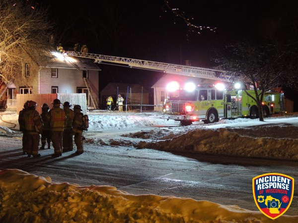 scene of fatal house fire in Sheboygan Falls