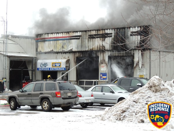 fire in auto repair shop