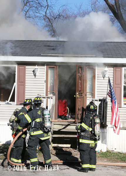 double-wide trailer mobile home gutted by fire