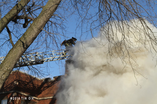 heavy smoke from building fire