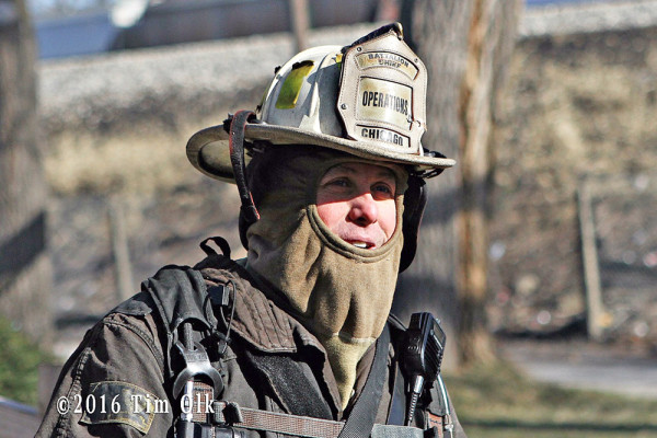 cold firefighter at scene