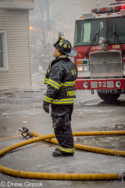 firefighter at fire scene