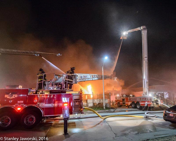 3-alarm warehouse fire in Baltimore MD