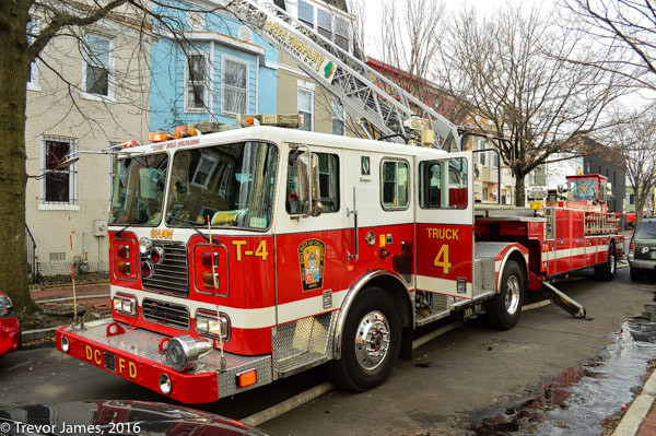 DCFD fire truck at fire scene