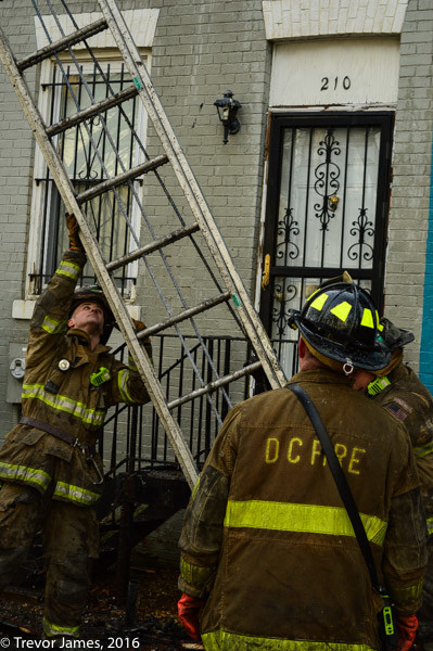 DCFD firefighters take down ladder