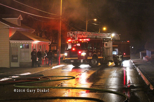 fire scene in Cambridge Ontario