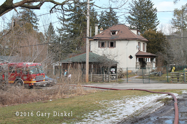 scene of a previous house fire in Cambridge Ontario Canada