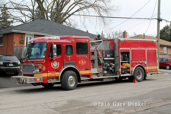 Cambridge Ontario American LaFrance fire engine