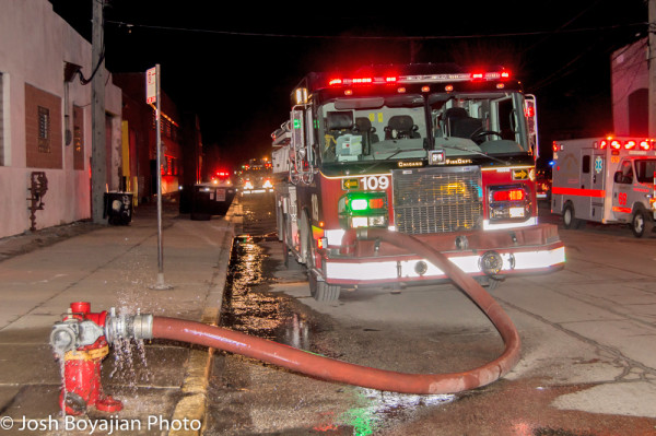 Chicago FD Engine 109 on a hydrant