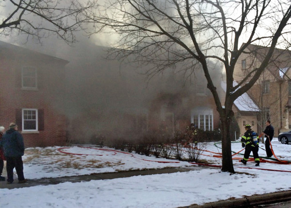 heavy smoke at Park Ridge IL house fire