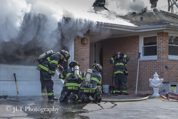 house fire with lots of smoke