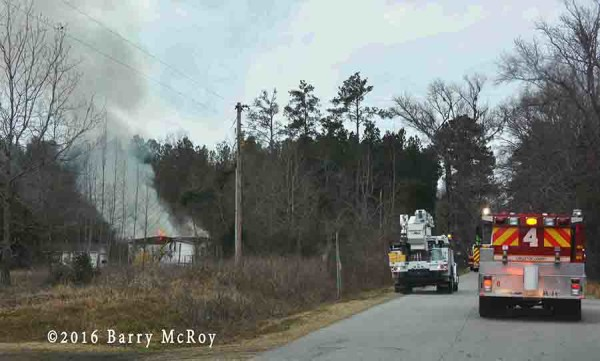 fire in a doublewide mobile home
