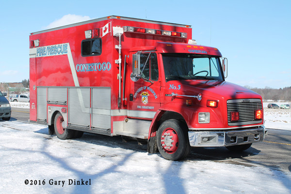 Freightliner fire truck in Canada