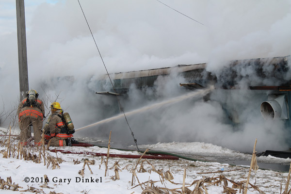 barn fire in Canada