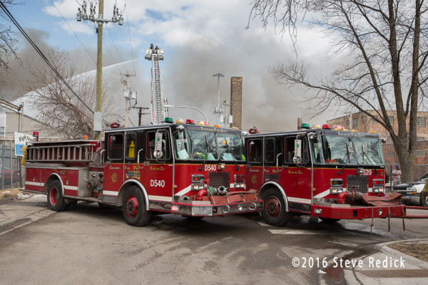 Chicago FD spare fire engines