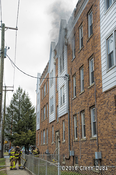 fire in a 3rd floor apartment