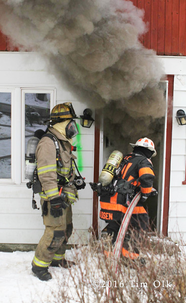 firefighters conduct live-fire training