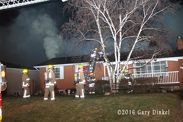 Cambridge Ontario firefighters at house fire