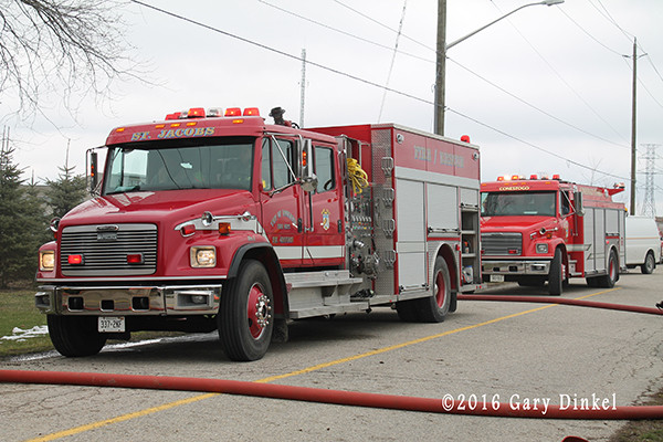 Freight liner fire truck in Canada