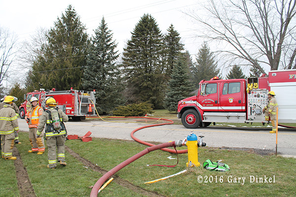 house fire scene in Ontario Canada