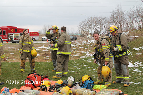 firefighters at work in Ontario