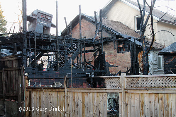 aftermath of a house fire in Kitchener Ontario