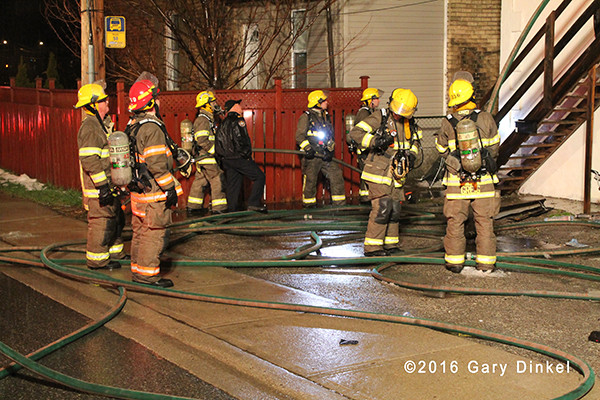 firefighters in Cambridge Ontario at fire scene