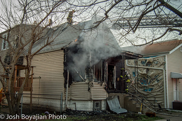 house fire scene in Cicero IL