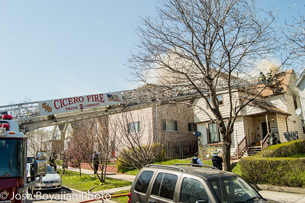 house fire in Cicero IL