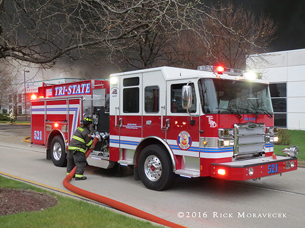 Tri-State FPD fire engine at a fire