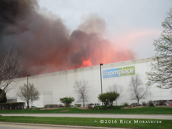 Room Place warehouse fire in Lemont IL