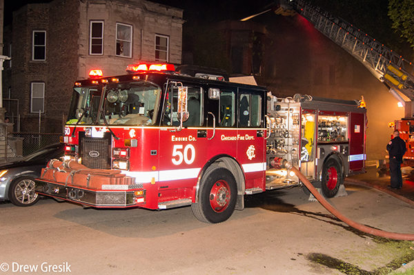 Chicago FD Engine 50 at work