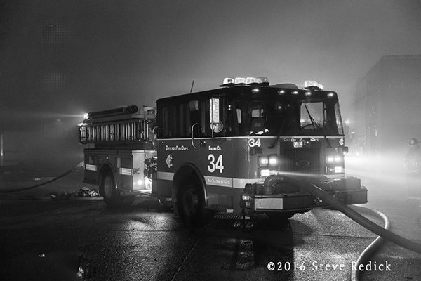 Chicago FD Engine 34 at a fire scene