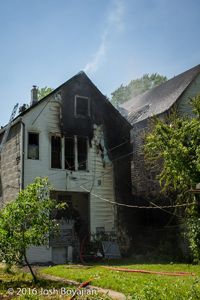 aftermath of Chicago house fire