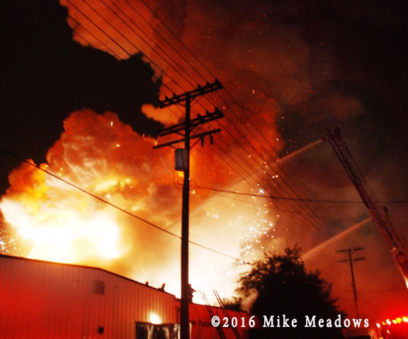 a magnesium-fueled fire in a California industrial park