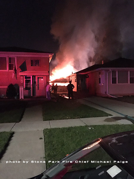 Attractive Alley Garage Fully Engulfed In Flames