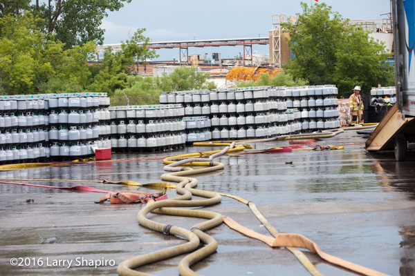aftermath of fire at propane storage company