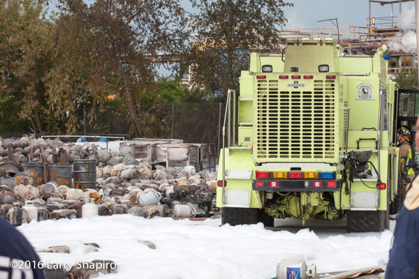 ARFF at propane storage company fire