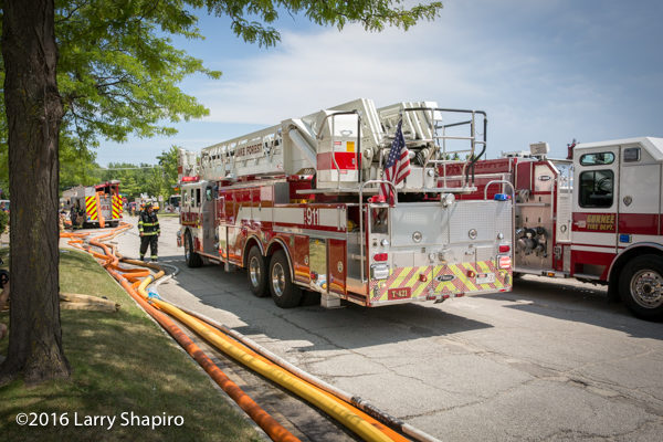 Lake Forest Fire Department tower ladder