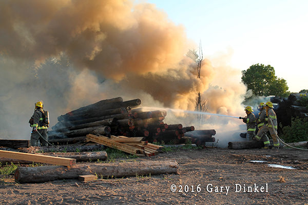 lumber fire in Ontario