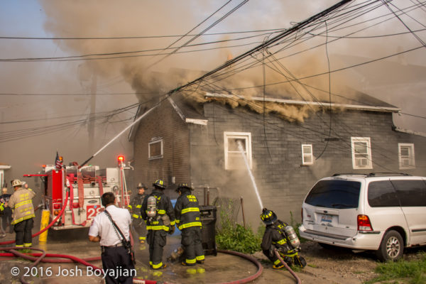 deck gun and hand line battle house fire